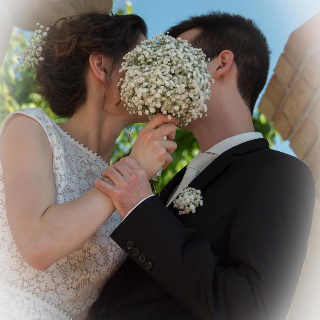"""Couple in wedding"" stock image"