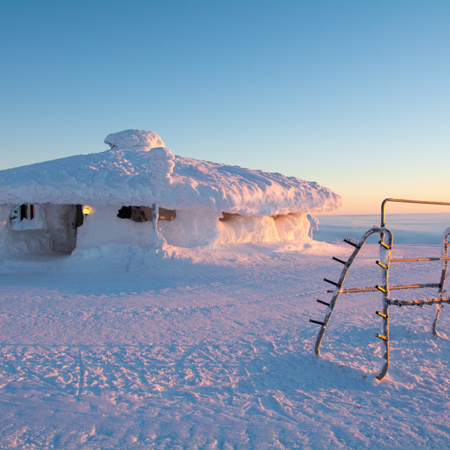 """""""Finland Mountain Top Cafe"""" stock image"""