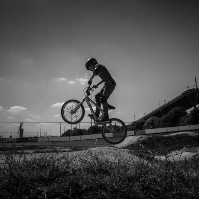 """""""BMX Jump"""" stock image"""