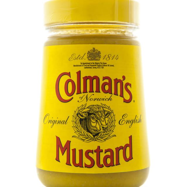 """Colemans Classic English Mustard"" stock image"
