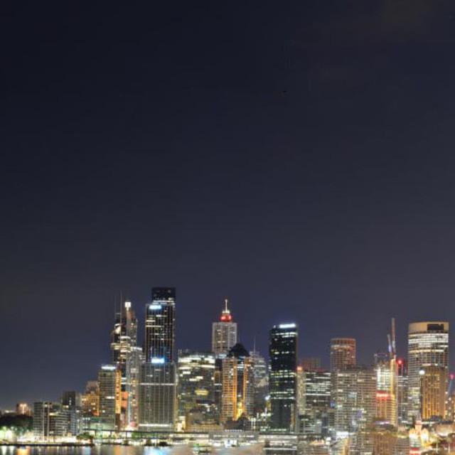 """Sydney Harbour Night"" stock image"