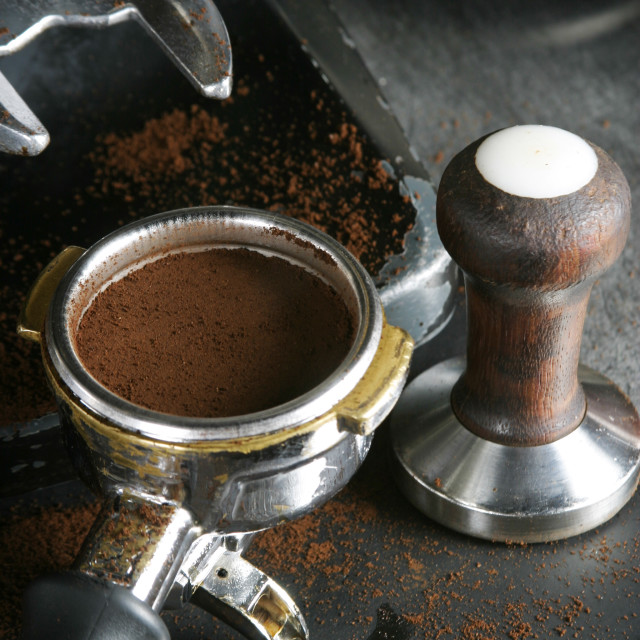 """Tamped Espresso Bayonet"" stock image"