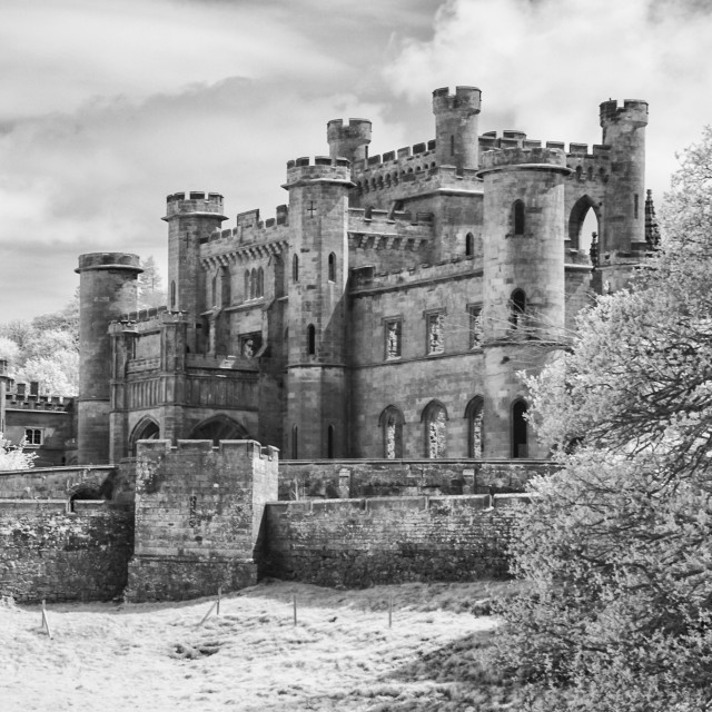 """Lowther Castle Monochrome 5"" stock image"