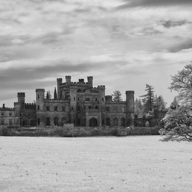 """Lowther Castle Monochrome 7"" stock image"