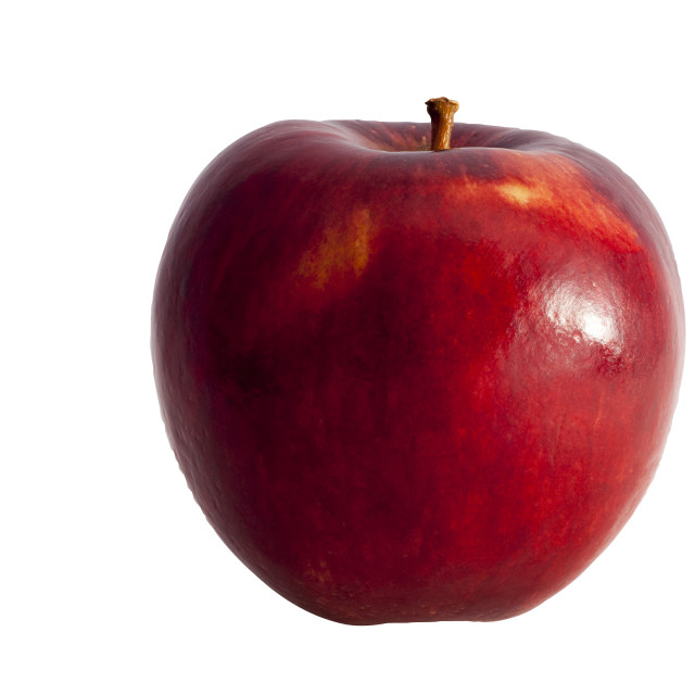"""Red apple side view"" stock image"