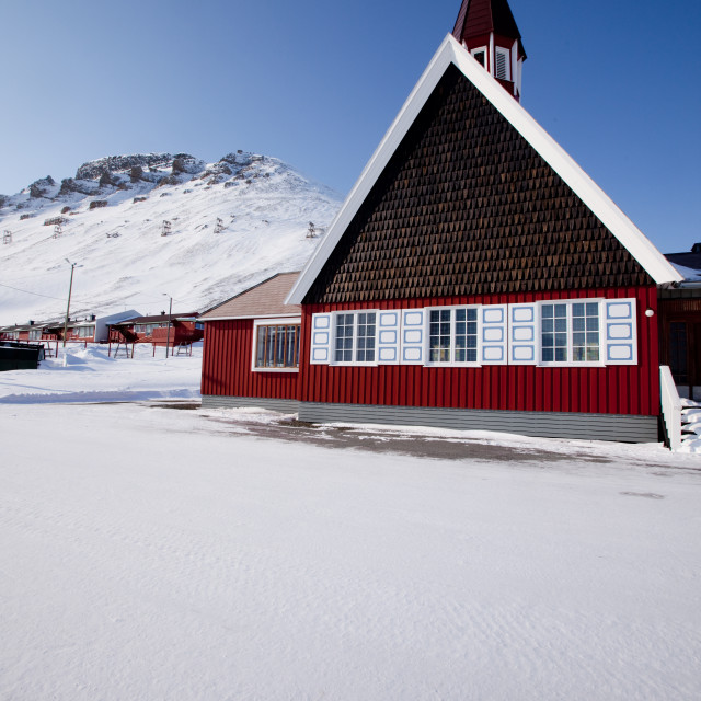 """Longyearbyen Church"" stock image"