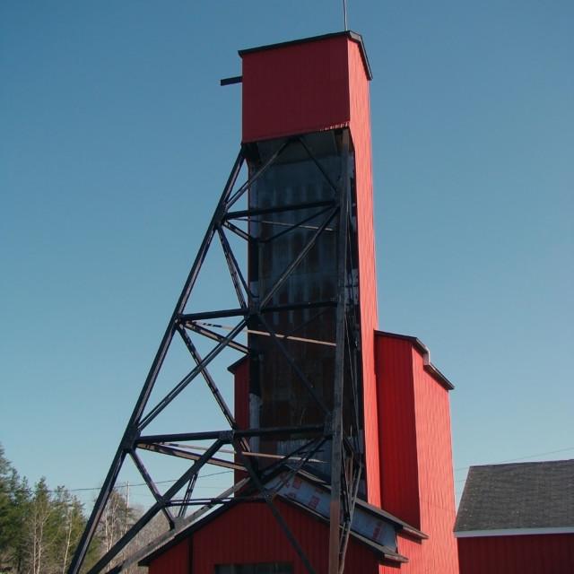 """Old Mine Shaft"" stock image"