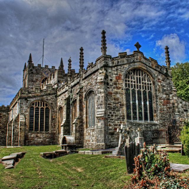 """""""St Marys & St Nicholas Beaumaris"""" stock image"""
