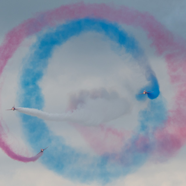"""Red Arrows Cyclone"" stock image"