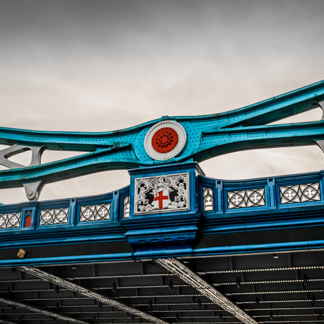 """Tower Bridge View From Under"" stock image"