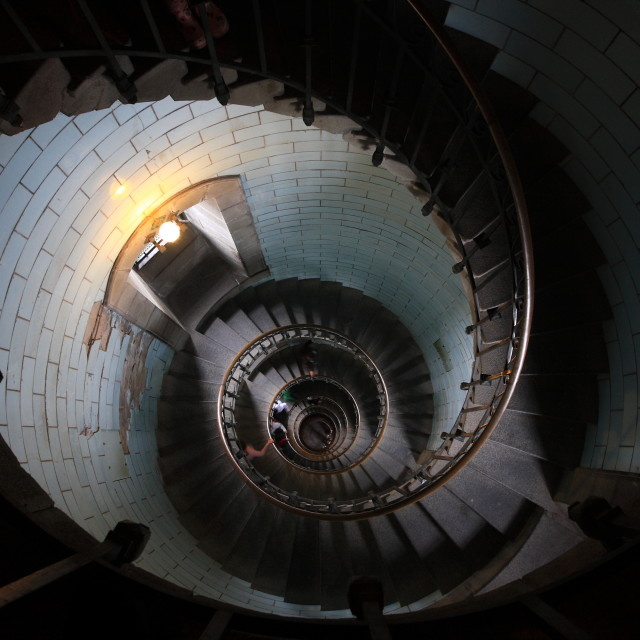 """Eckmul Lighthouse - the spiral staircase"" stock image"