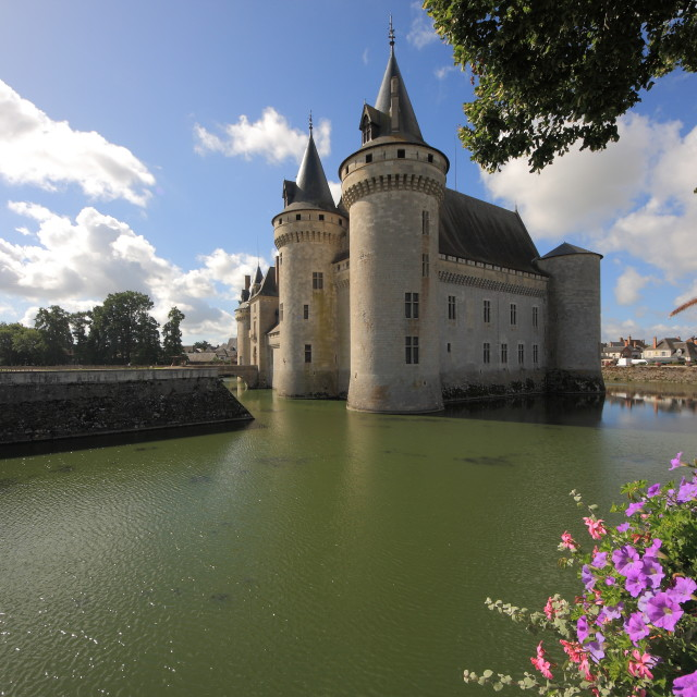 """Sully sur Loire castle"" stock image"