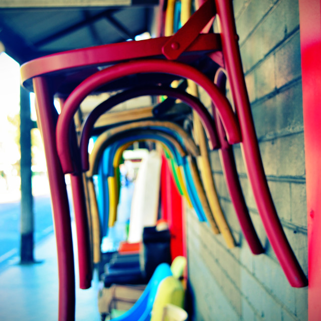 """""""Hanging Chairs"""" stock image"""