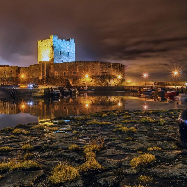"""Carrickfergus Castle"" stock image"