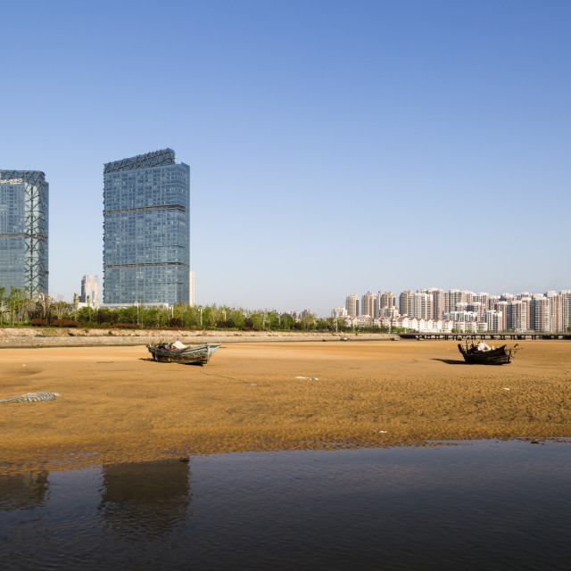 """Four Points by Sheraton from Lingshan Bay Beach, China"" stock image"