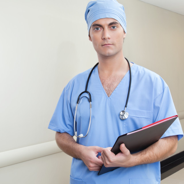 """Surgeon with database"" stock image"