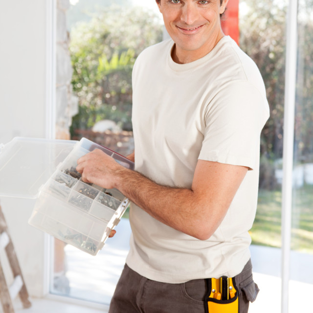 """Home Improvement Man"" stock image"