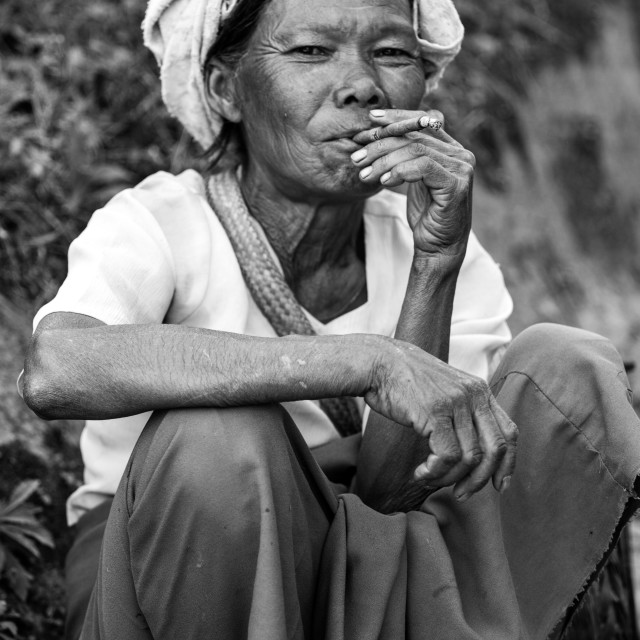 """""""Woman smoking"""" stock image"""