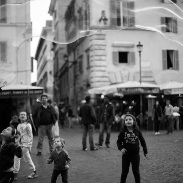 """""""children in the streets of Rome"""" stock image"""