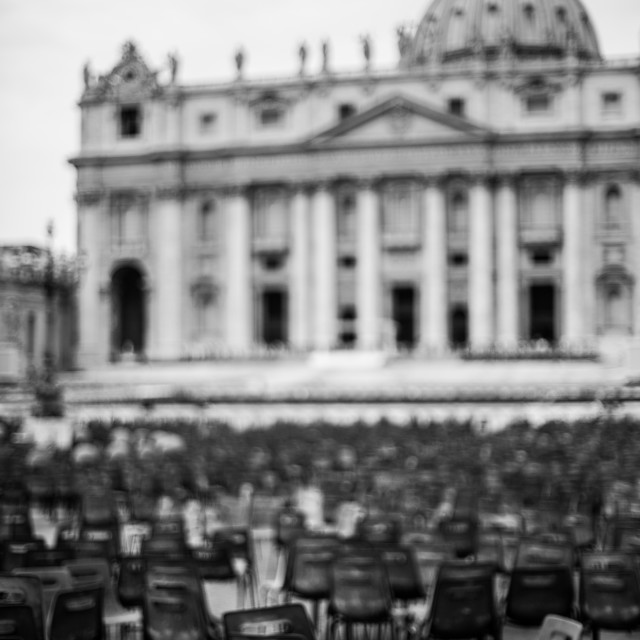 """""""After the party at the Vatican"""" stock image"""