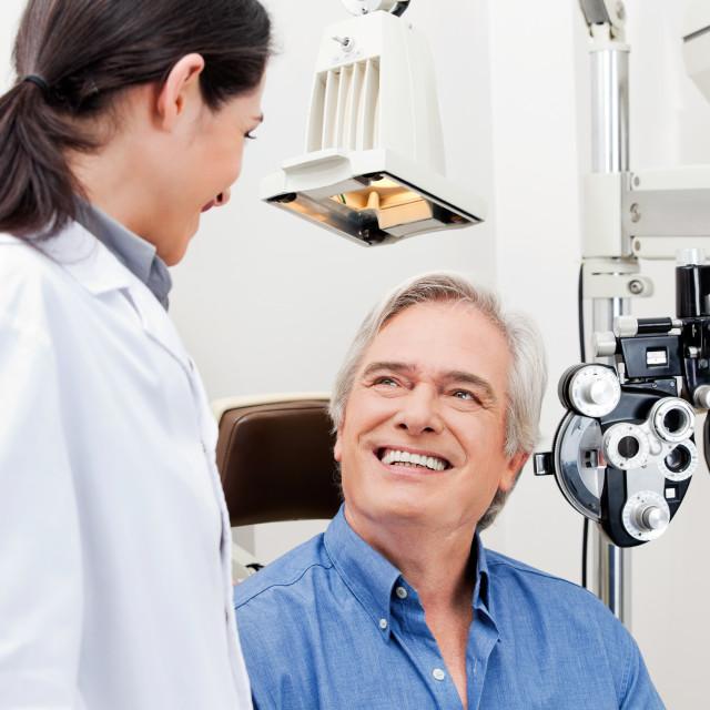 """""""Eye Checkup"""" stock image"""