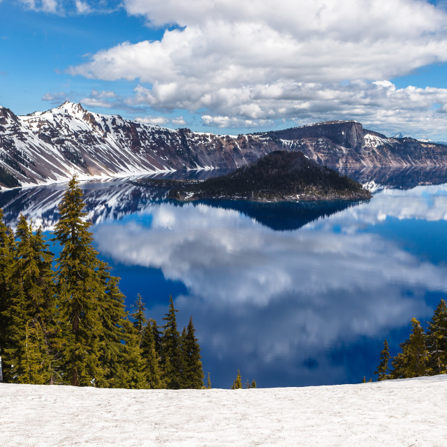 """Crater Lake"" stock image"