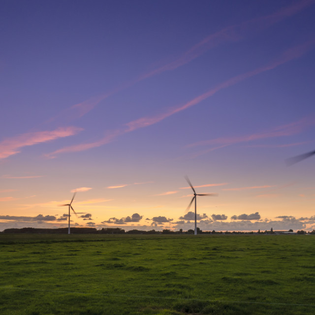 """Windturbines at work"" stock image"