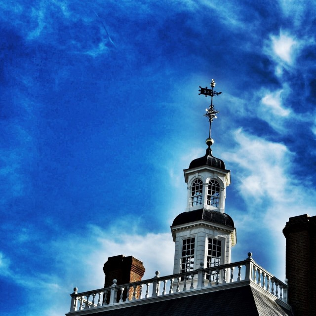 """Colonial Williamsburg - Sky Shot 1"" stock image"