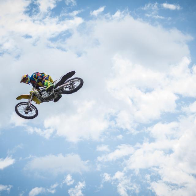 """Motocross Sky"" stock image"