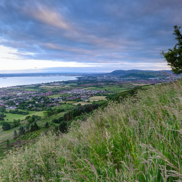 """Jordanstown from Knockagh Hill"" stock image"