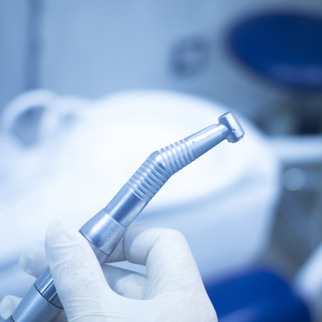 """""""Dental instrumenation dentist drill cleaning tool dentists surgery clinic"""" stock image"""