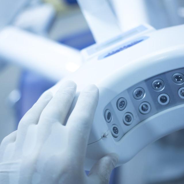 """Dental instrumentation dentist equipment dentists surgery"" stock image"