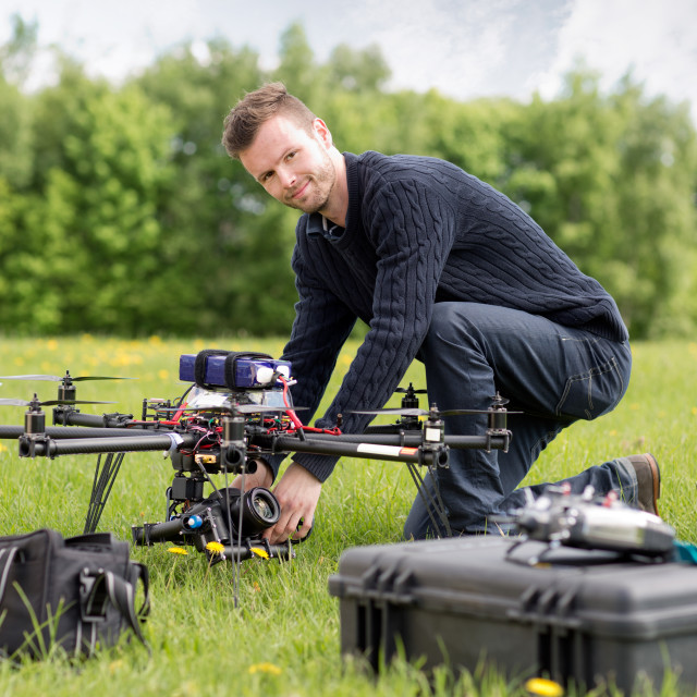 """Portrait of an UAV Aerial Photography"" stock image"
