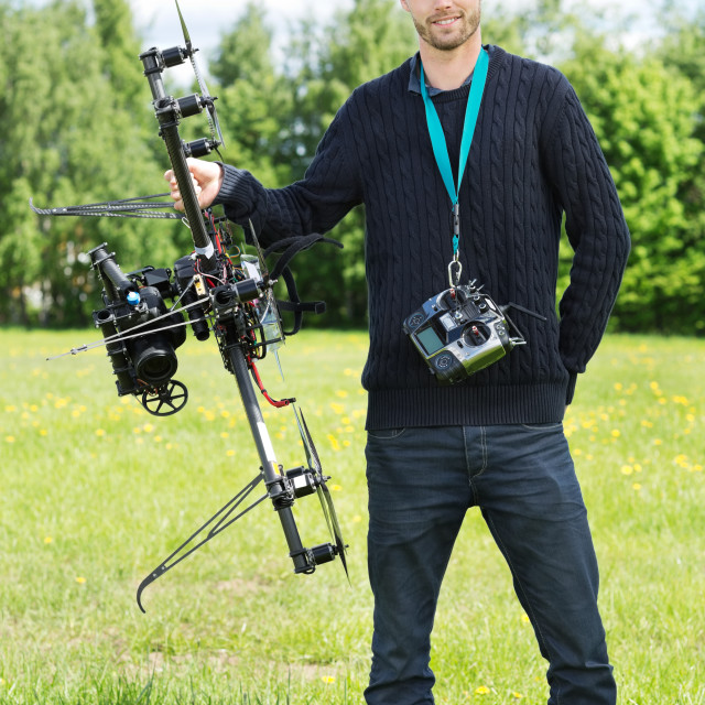 """Technician Standing With UAV"" stock image"