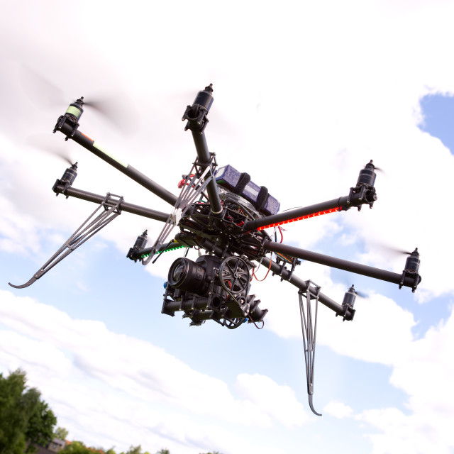 """UAV Photography Helicopter"" stock image"