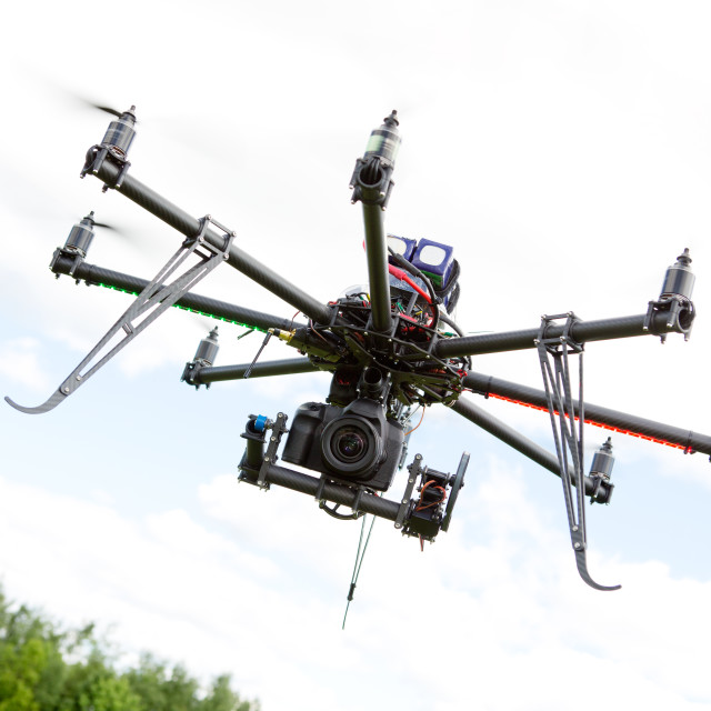 """Multirotor Photography Helicopter"" stock image"