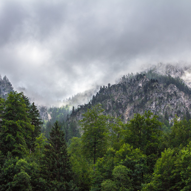 """""""Dramatic View on Bavarian Alps"""" stock image"""
