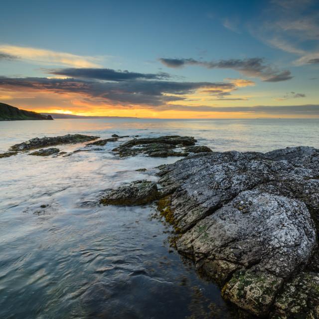 """Portmuck Sunset"" stock image"