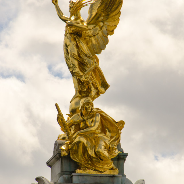 """Victory Statue, Buckingham Palace"" stock image"