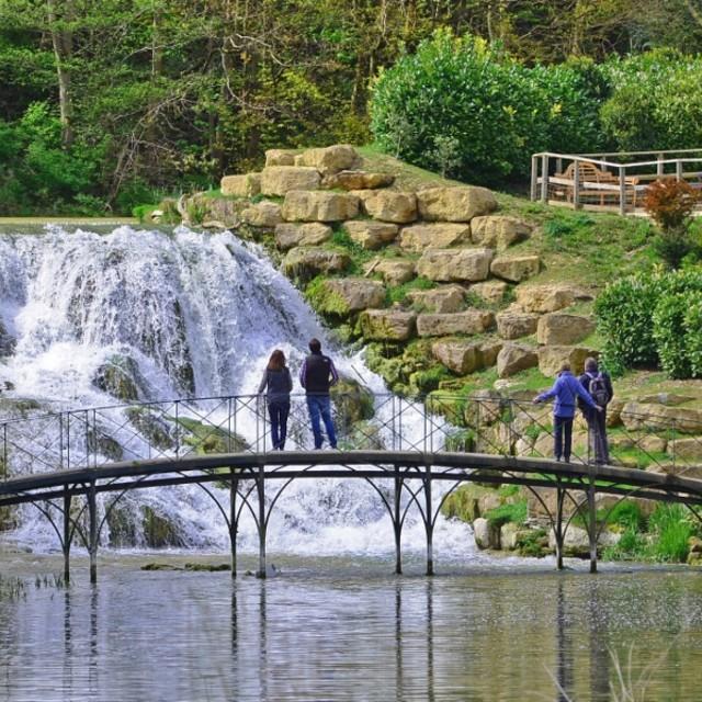 """""""Blenheim Palace Waterfall"""" stock image"""