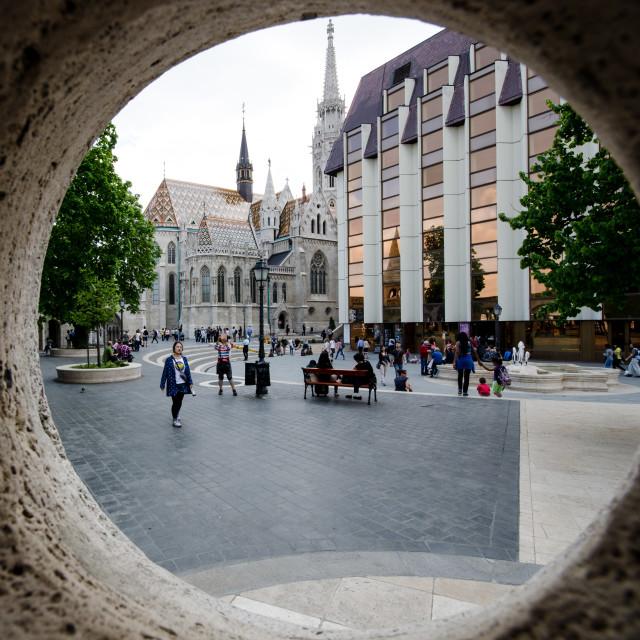 """""""Fishermans Bastion, Budapest"""" stock image"""
