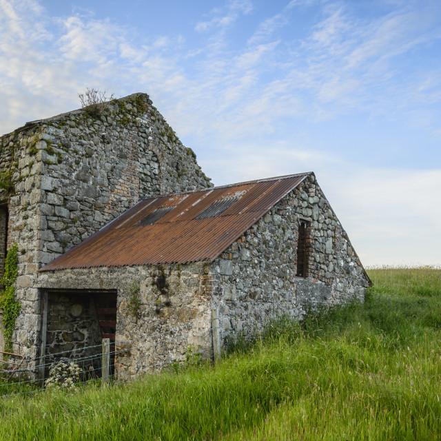 """Ballycarry Farm Building"" stock image"