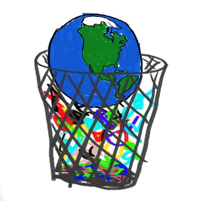 """""""Earth in Garbage"""" stock image"""