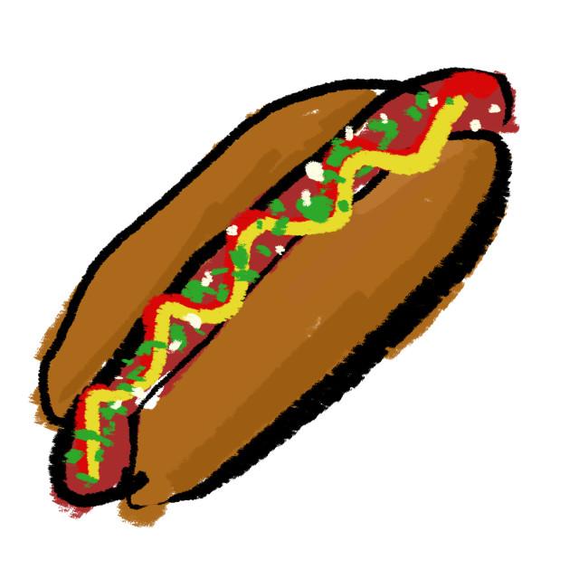 """Hotdog"" stock image"