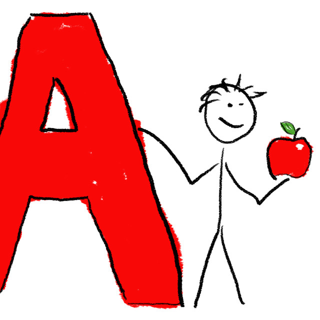 """""""Letter A"""" stock image"""