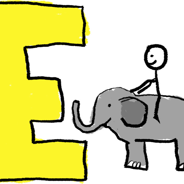 """Letter E"" stock image"