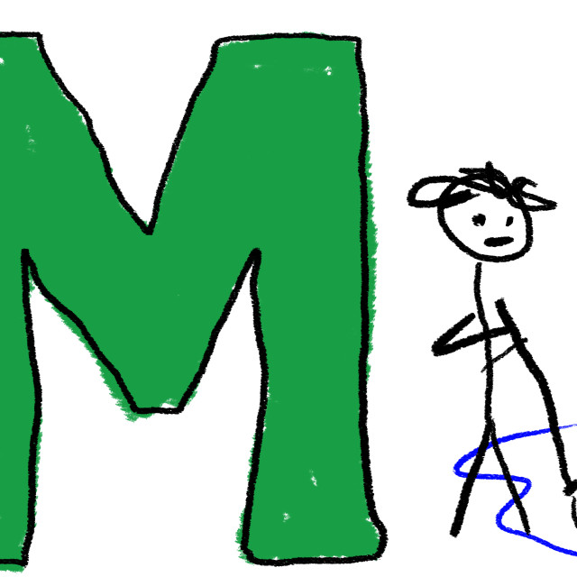 """""""Letter M"""" stock image"""