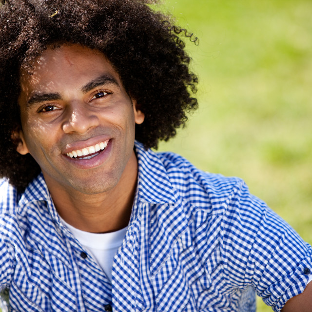 """Attractive Man Smiling at the Camera"" stock image"