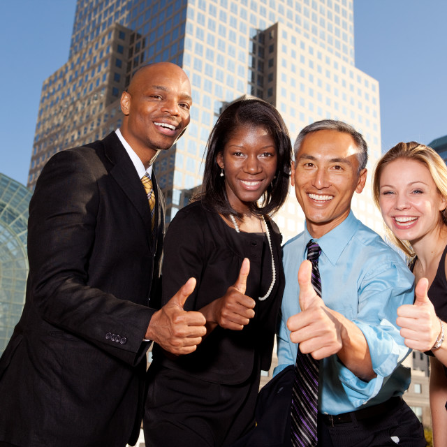 """Four Business People"" stock image"