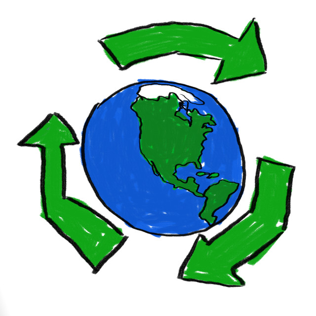 """Recycle World"" stock image"
